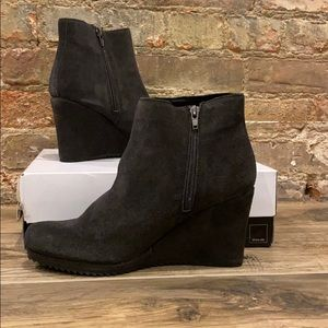 Dolce Vita Piscal charcoal suede wedge bootie